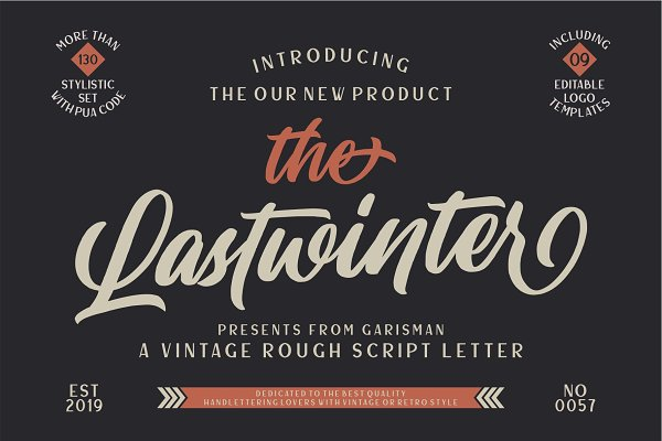The Lastwinter - Vintage Script
