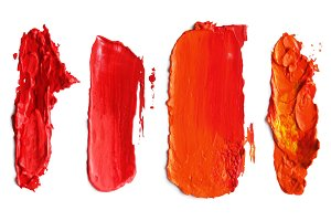 Abstract red acrylic brush strokes