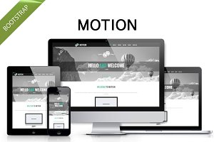 Motion - clean Bootstrap theme