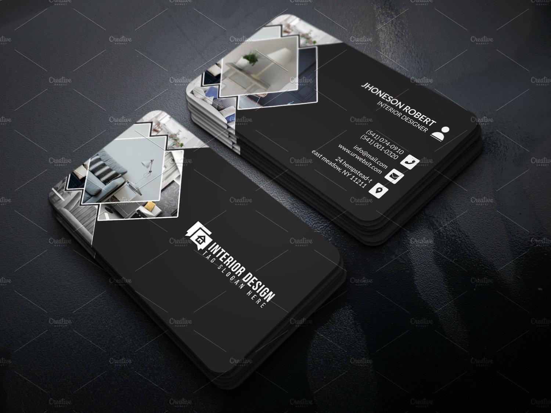 Interior Designer Business Card Creative Photoshop Templates Creative Market