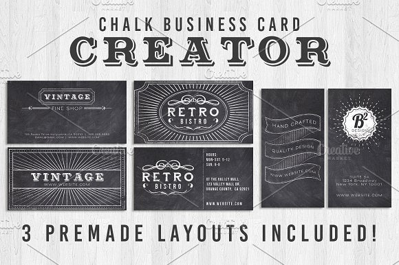 Chalk business card creator business card templates creative market chalk business card creator business cards friedricerecipe Gallery
