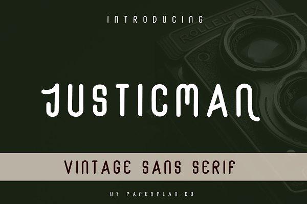 Justicman - Vintage Type Family