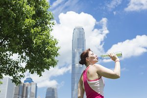 Woman drinking cold Water.jpg