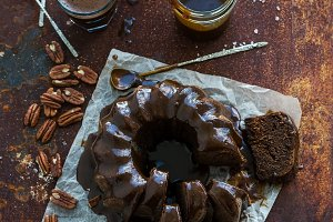 Chocolate coffee bundt cake