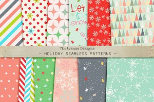Holidays Seamless Patterns