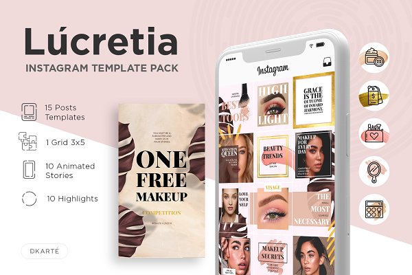 Instagram Template Pack - Lucretia