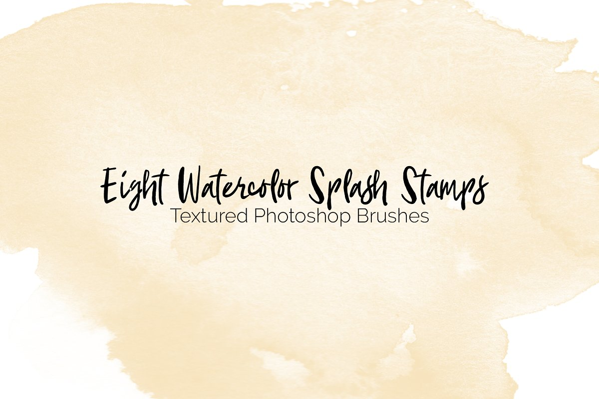 Eight Watercolor Texture Brushes ~ Photoshop Add-Ons