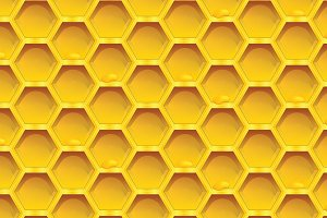 Honeycomb colorfull Seamless pattern