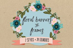 Floral Banners & Frames