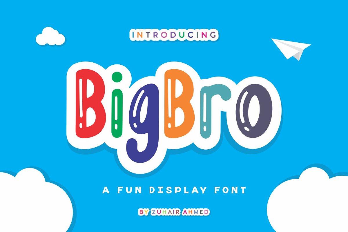 BigBro Fun Display Font