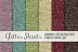 Digital Glitter Papers & Pattens #1