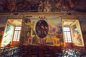 Beautiful fresco of castle museum