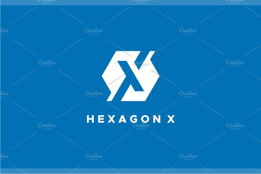 Hexagon - X Logo