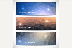 Geometric banneres set