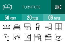 50 Furniture Line Icons