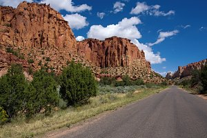 A remote road in south Utah