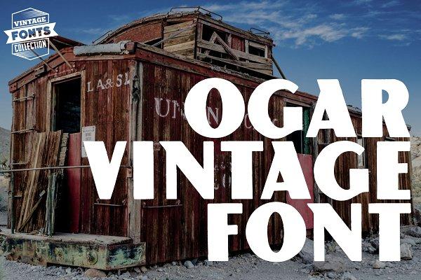 Ogar - 2 vintage fonts