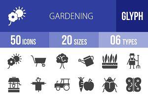 50 Gardening Glyph Icons