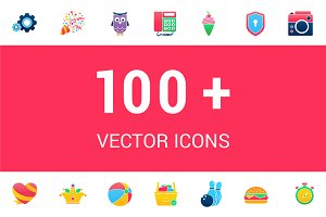 100+ Lovely Vector Icons