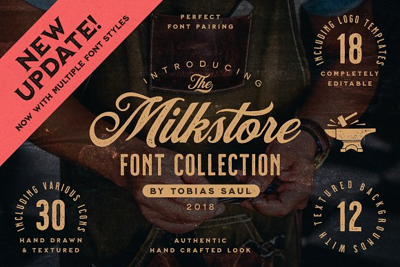 Milkstore Font Collection in Display Fonts - product preview 14