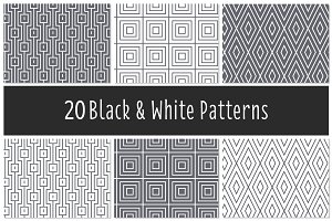 Black & White Patterns - Vector(ai)