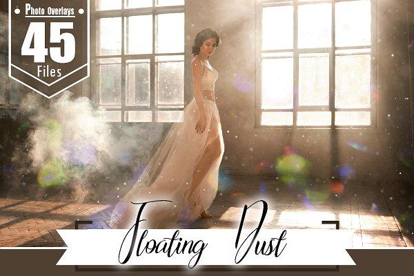 45 floating dust photo overlay