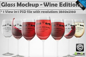 Glass Mockup - Wine Glass Mockup 9