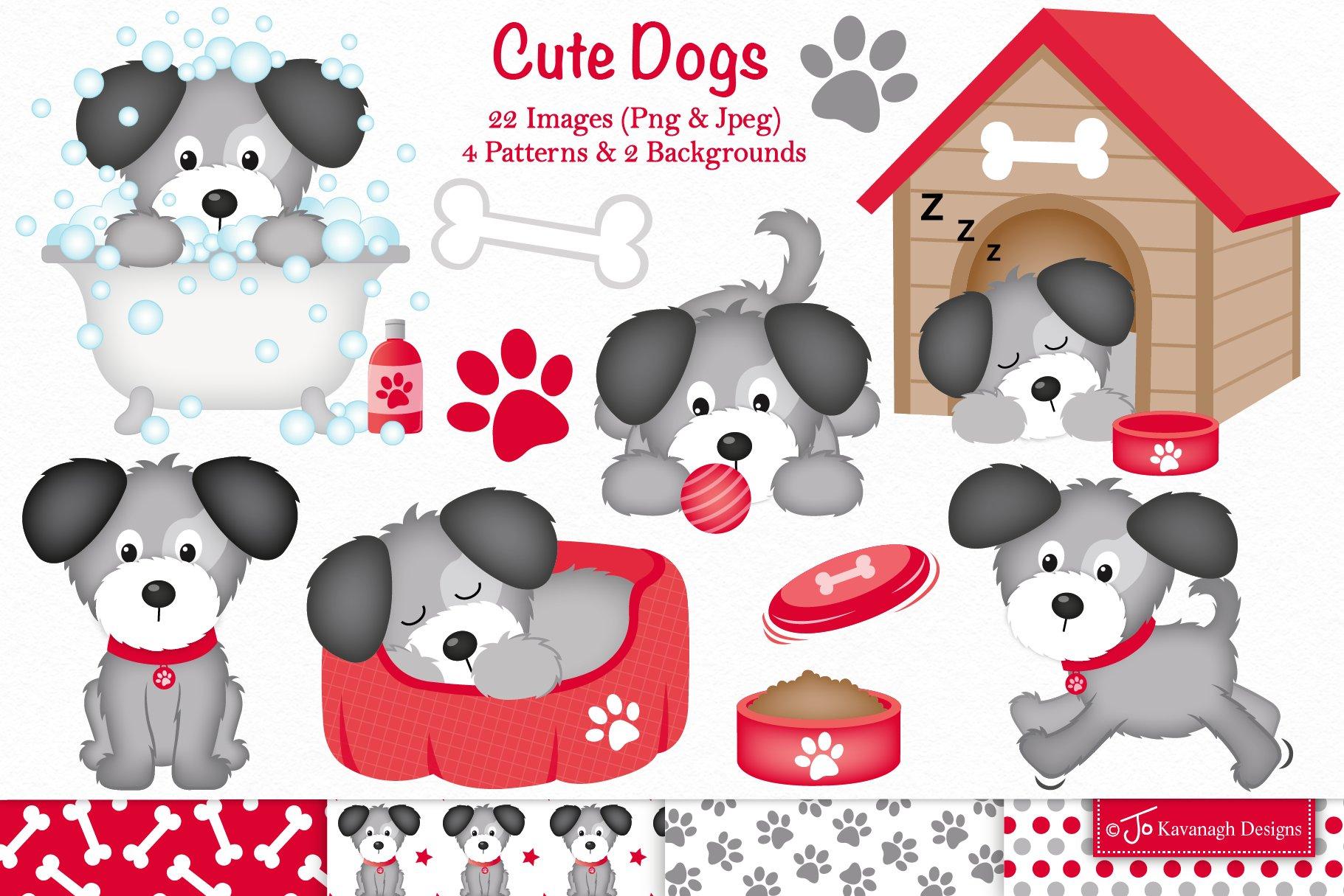 Puppy Dog Clipart C37 Pre Designed Photoshop Graphics Creative Market