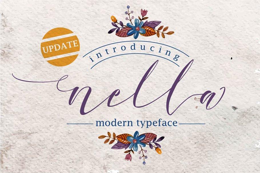 Nella Script (update) ~ Script Fonts ~ Creative Market