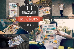 Outdoor Newspaper Ad Mockups Vol. 6