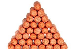 Pyramid of frankfurters
