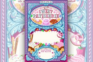 Vintage Candy Shop Invitation