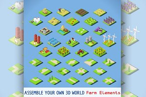 City Map Elements - Farm Set
