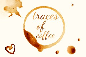 traces of coffee