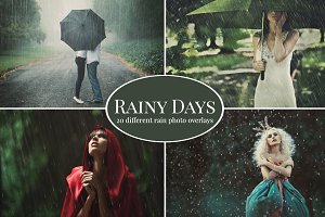 Rainy Days - 20x rain photo overlays