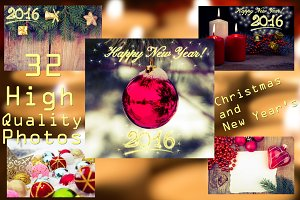 Christmas frames and backgrounds