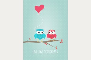 Owl Love You Forever Valentine Card