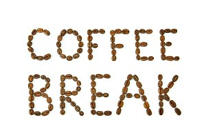 Coffee Break words made of coffee