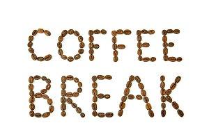 Coffee Break words made of coffee