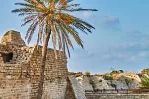 Ancient ruins of crusader's fort