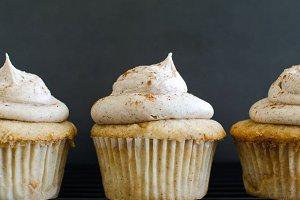 Vanilla Cupcakes Stock Images
