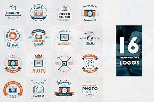 Set of 16 Photography Logos