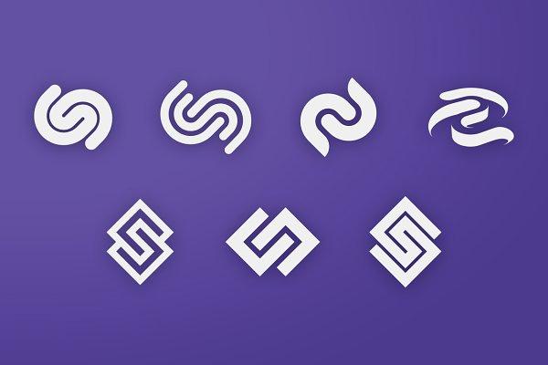 Cc C Letter Logo Bundle Monogram Set Creative Illustrator Templates Creative Market