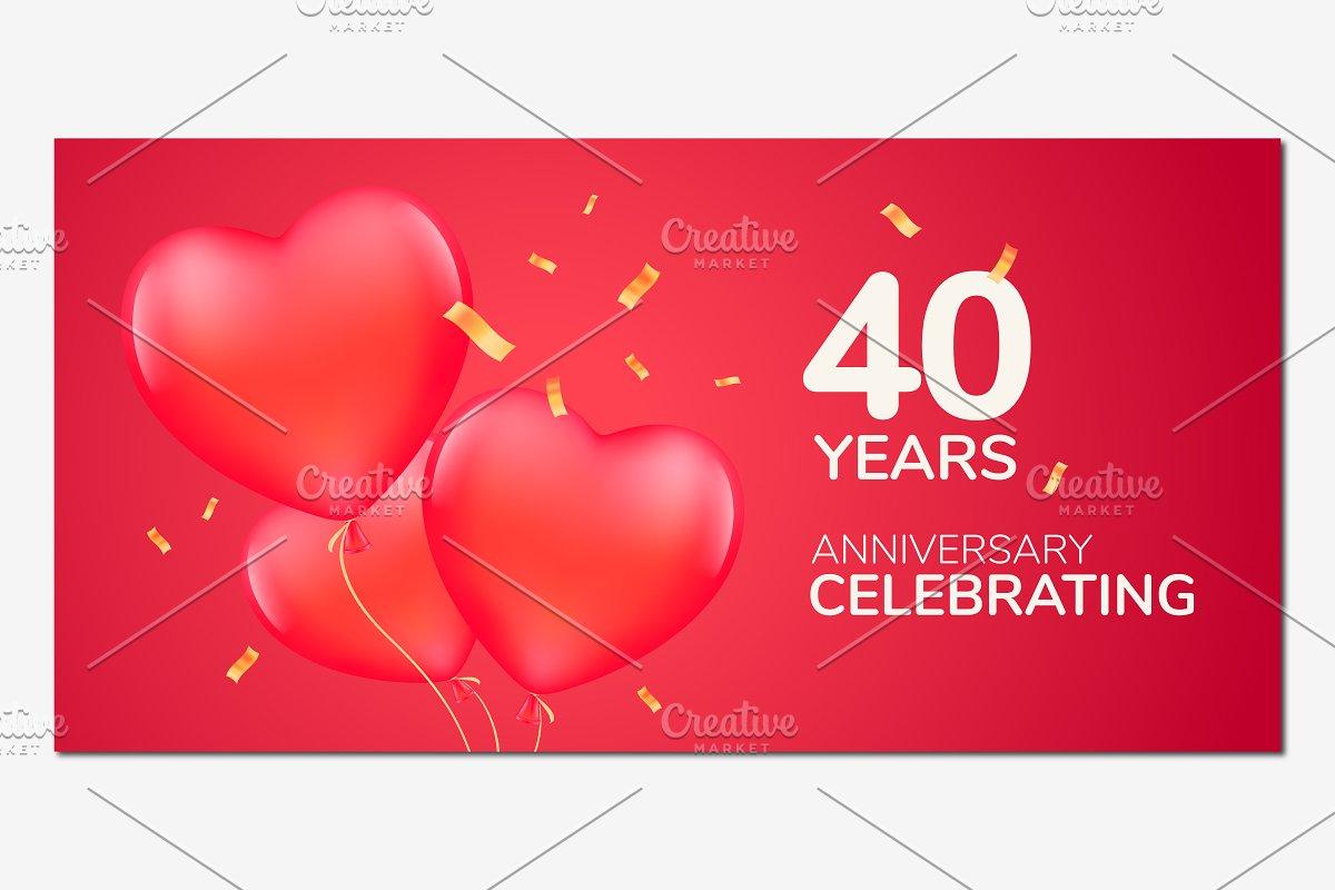 40 years anniversary vector design