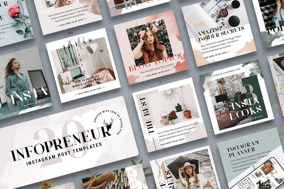 #Infopreneur - Instagram Posts Pack