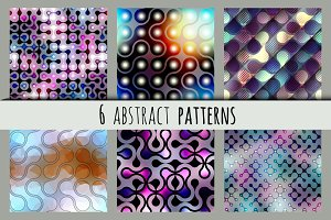 Set of abstract vector patterns.