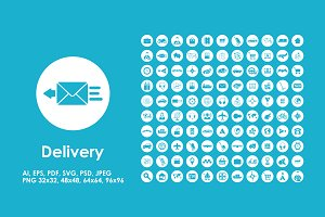 100 delivery icons