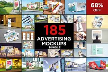 185 Advertising Mockups Bundle