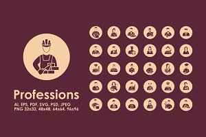 30 professions icons