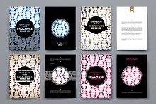 Set of brochure in molecule style.